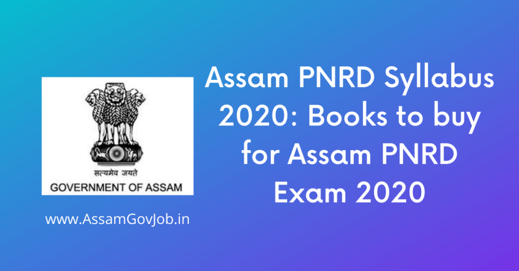 Assam-PNRD-Syllabus-2020