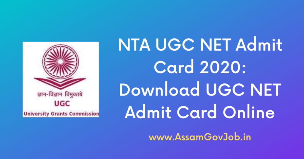 NTA UGC NET Admit Card 2020: Download UGC NET Admit Card Online