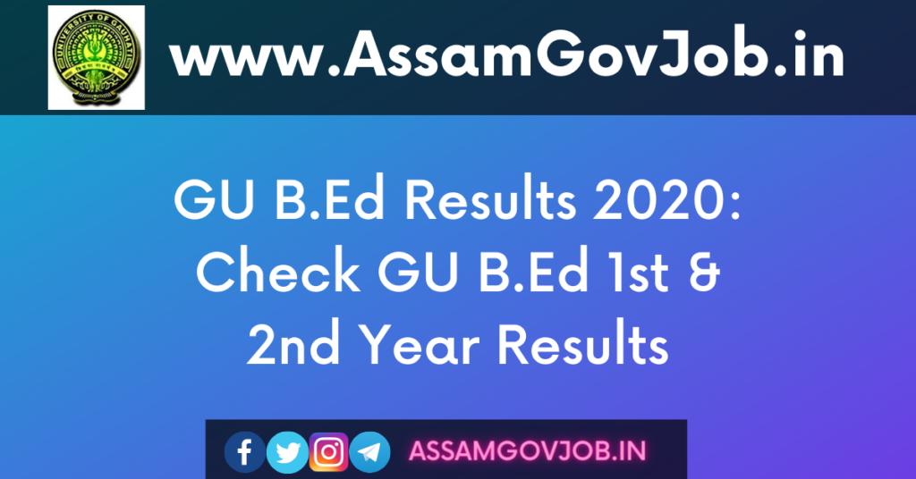 GU B.Ed Results 2020
