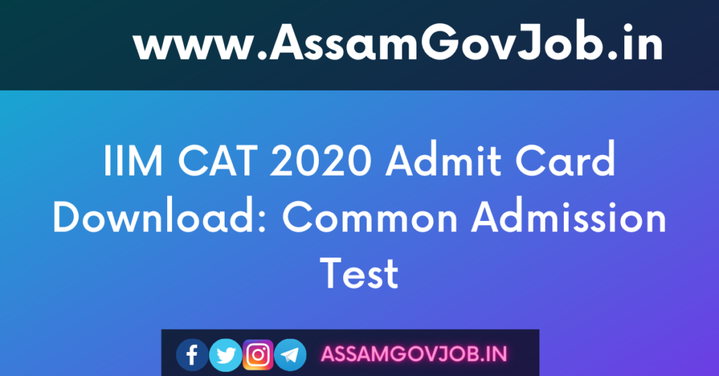 IIM CAT 2020 Admit Card