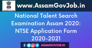 National Talent Search Examination Assam 2020