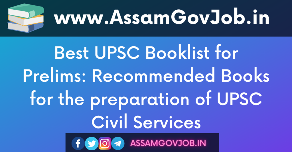 UPSC Booklist for Prelims