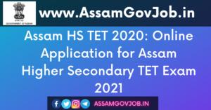 Assam HS TET 2020