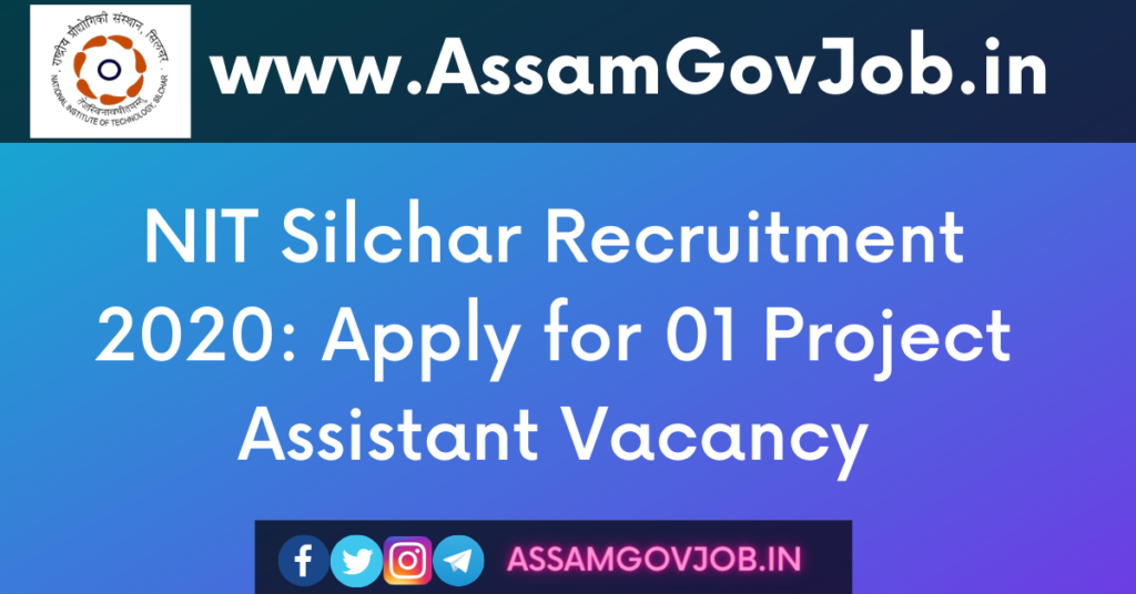 NIT Silchar Recruitment 2020