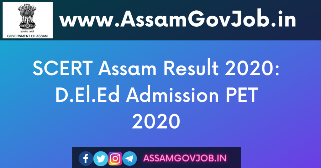 SCERT Assam Result 2020