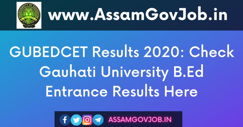 GUBEDCET Results 2020