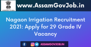 Nagaon Irrigation Recruitment 2021