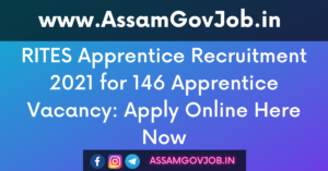 RITES Apprentice Recruitment 2021 for 146 Apprentice Vacancy