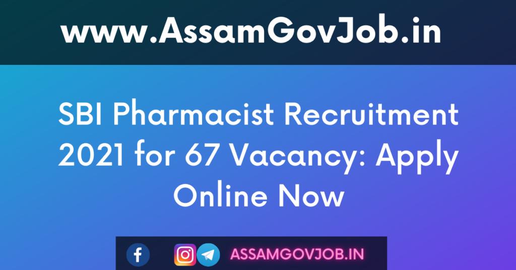 SBI Pharmacist Recruitment
