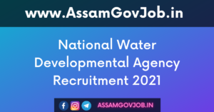 National Water Developmental Agency Recruitment 2021